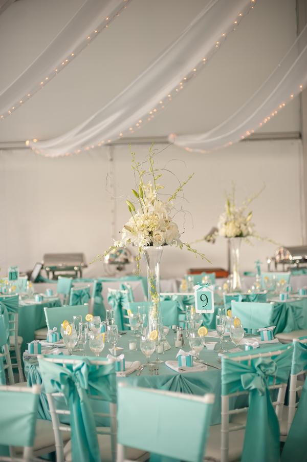Tiffany Blue Wedding Theme Chesapeake Bay Reception Kelly Robert