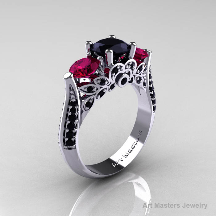 Black And Red Wedding Rings