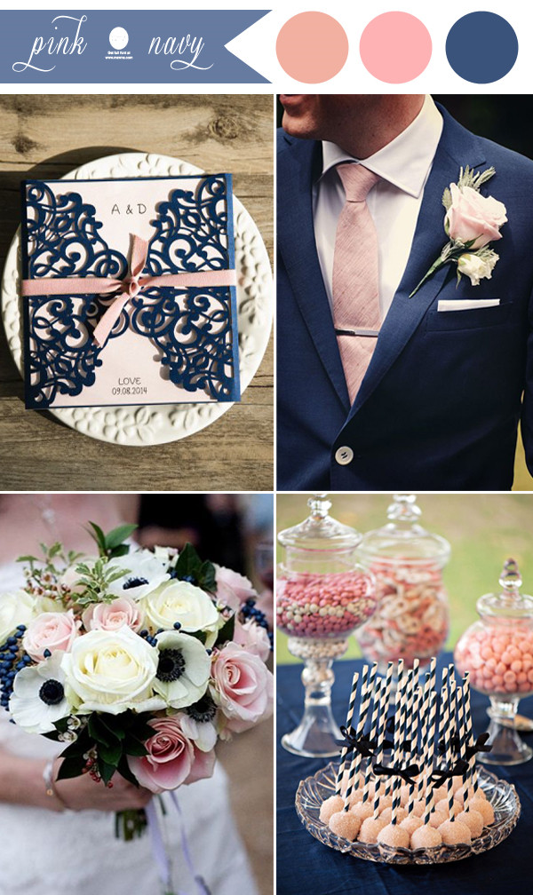 navy blue and black wedding