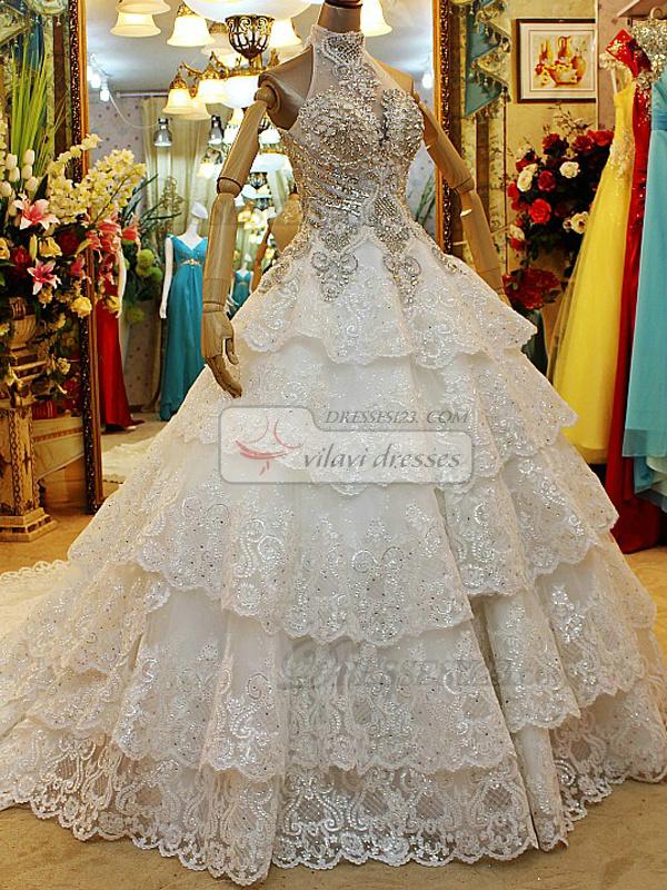 lace wedding dress with rhinestones. Black Bedroom Furniture Sets. Home Design Ideas