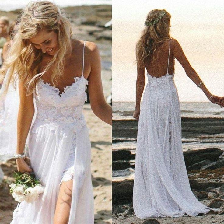 white linen dresses for beach weddings | Wedding