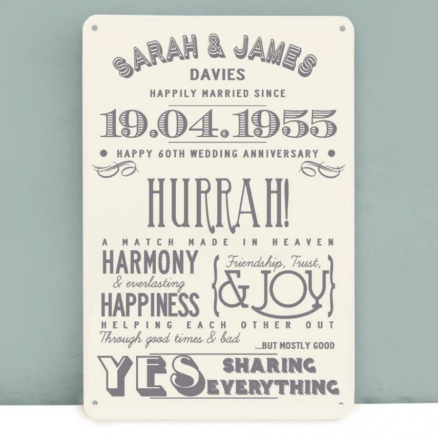 60th wedding anniversary gifts ideas