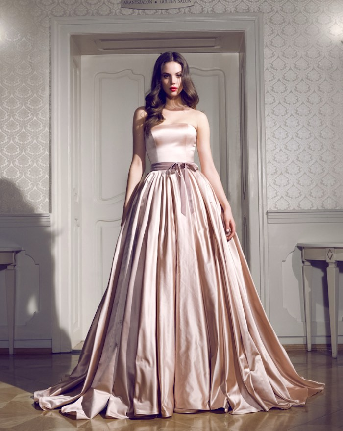 Rose Gold Wedding Gown