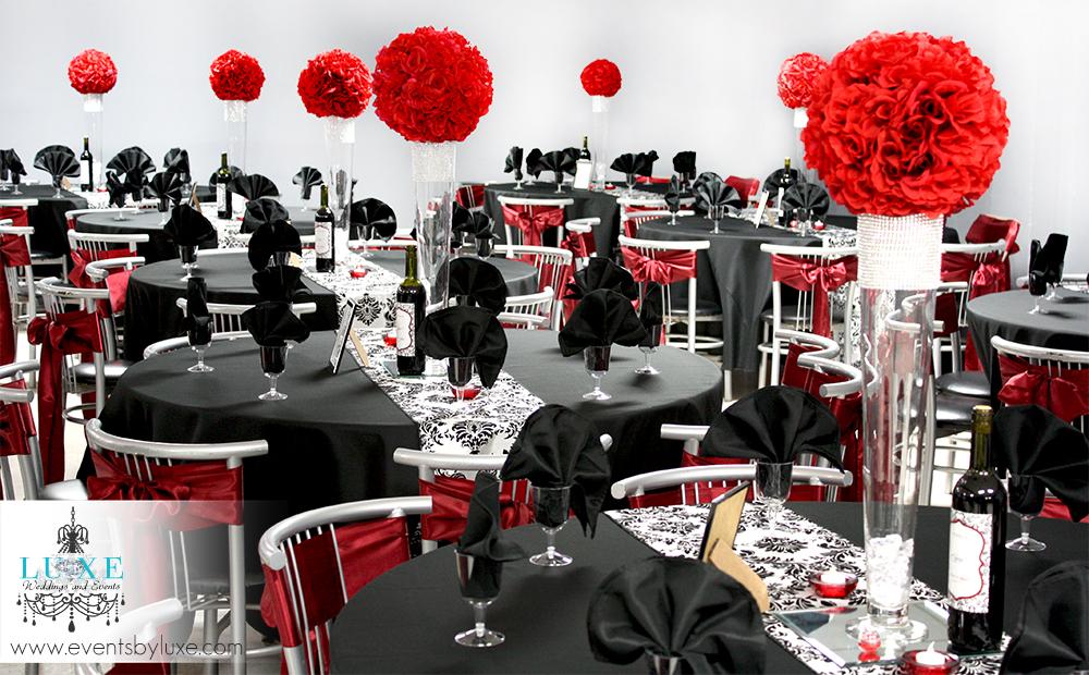 Black Red White Wedding Themes Images Decoration Ideas