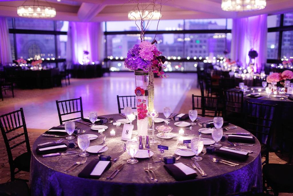 Dark Purple Wedding Table Decorations