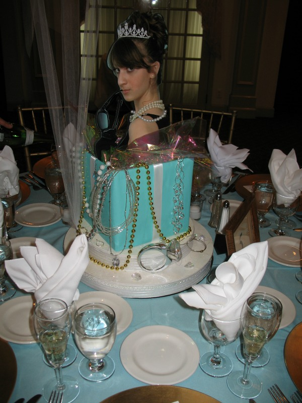 Diamond Themed Wedding Centerpieces