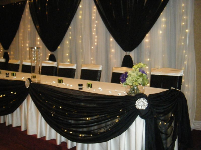 Backdrop For Wedding Head Table