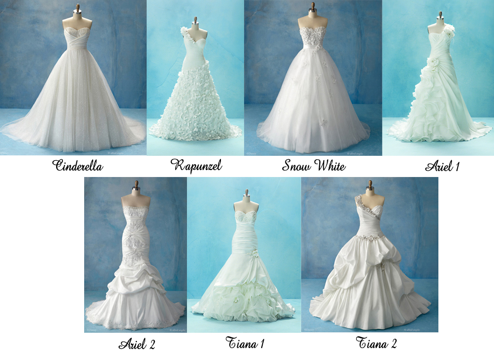 Disney Princess Inspired Wedding Dresses By Alfred Angelo These