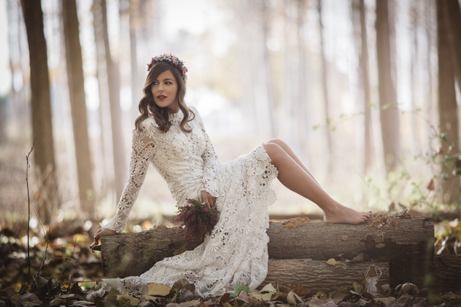 Fall Outdoor Wedding Dress