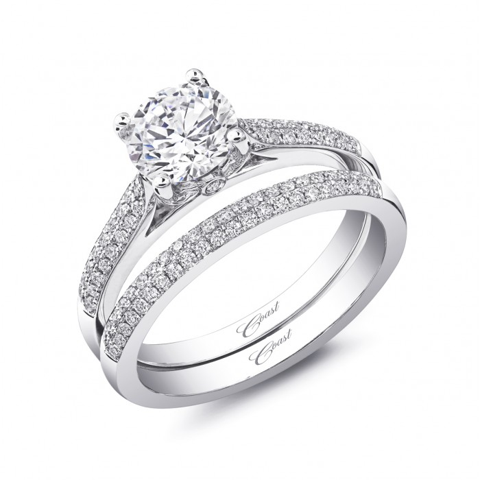 Double wedding bands engagement ring with double wedding band junglespirit Images