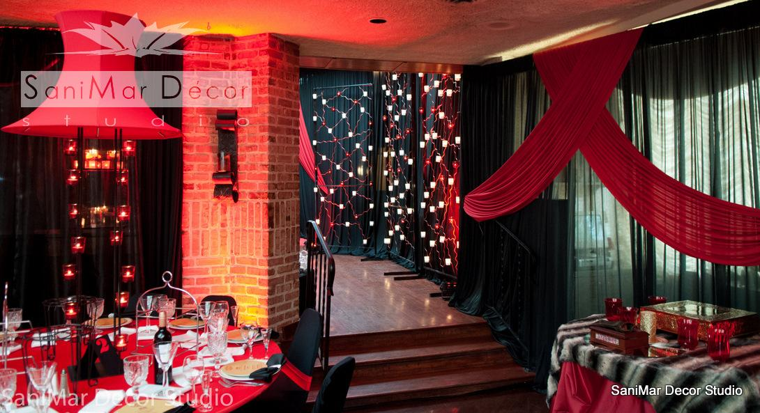 Red And Black Wedding Backdrops