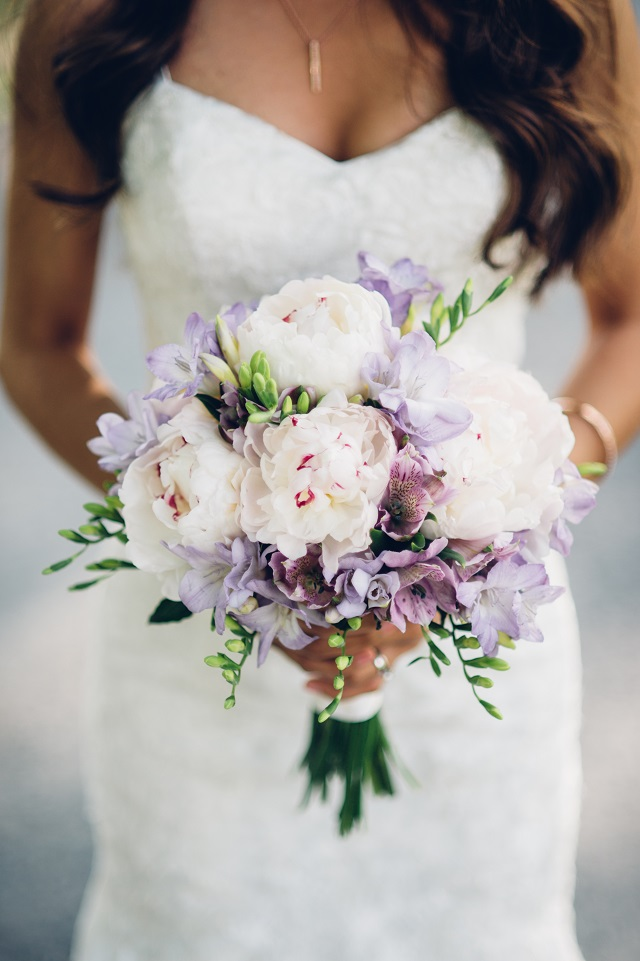Wedding Bouquets White And Purple