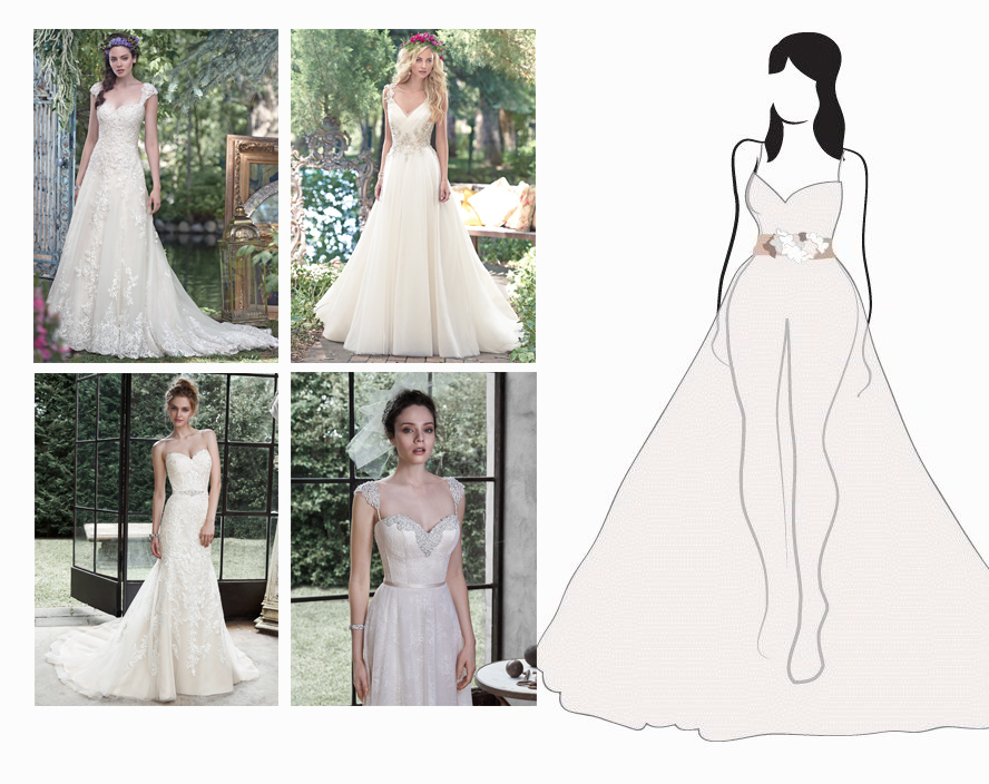 flattering wedding dresses for your frame