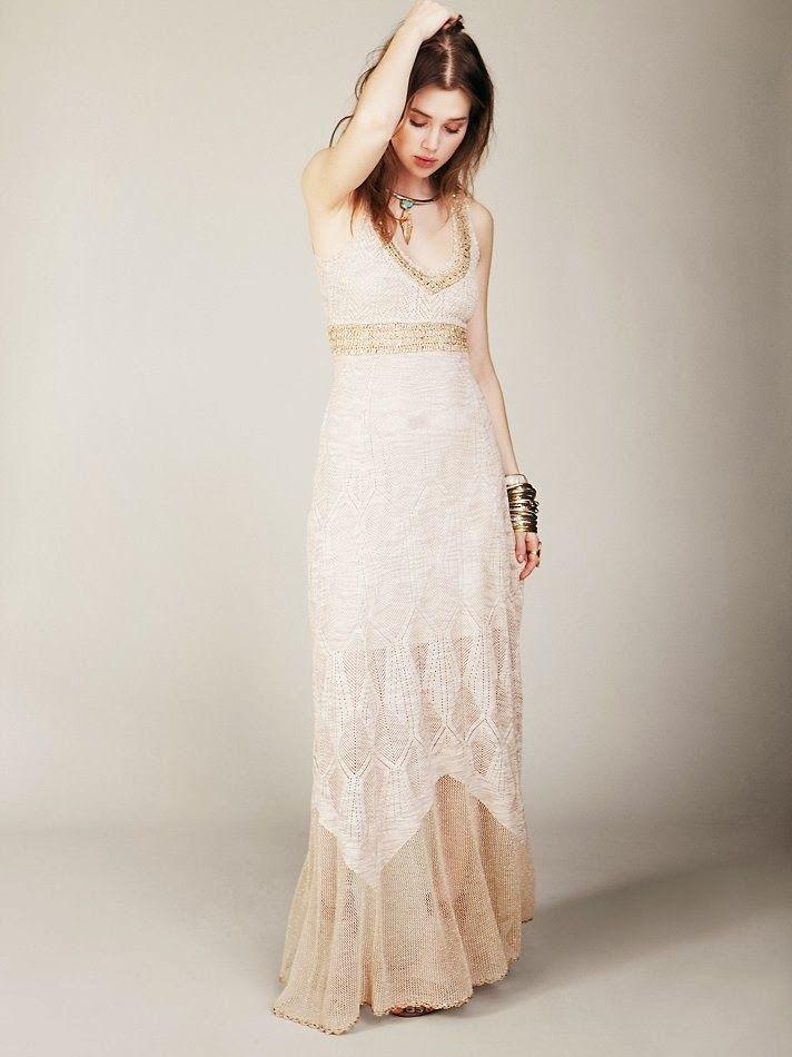 Free Hand Crochet Wedding Gown