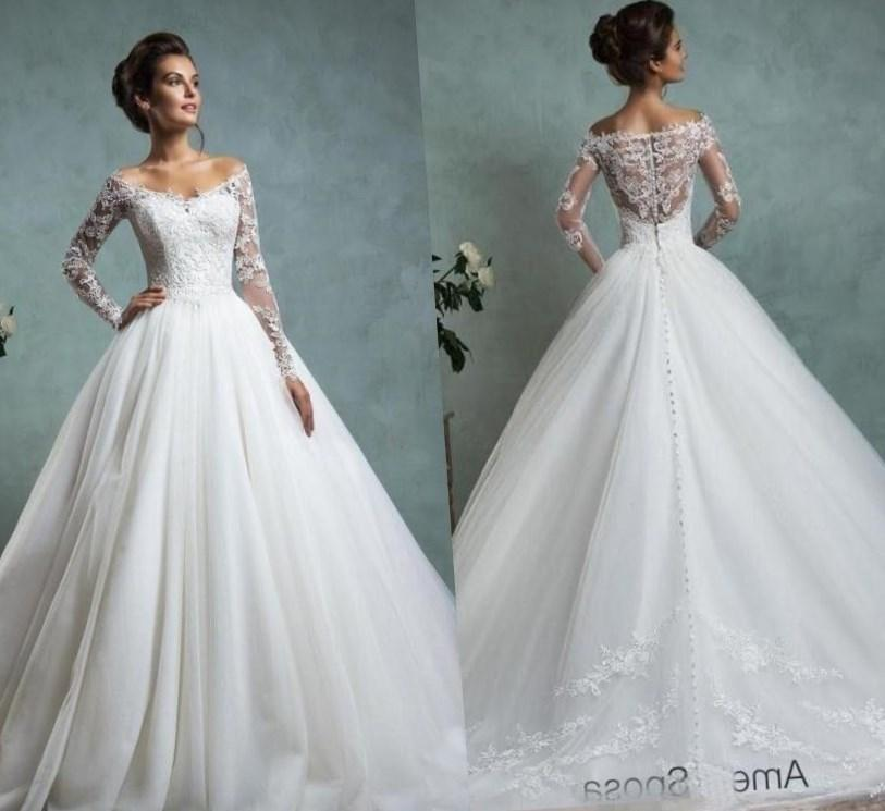 2017 New Full Lace Split Wedding Dresses With Detachable - Full ...