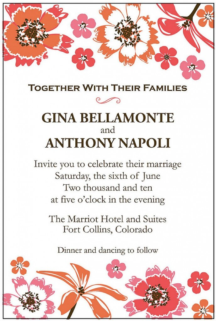 Fun Wedding Reception Invitation Wording