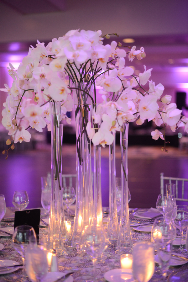 Wedding arrangements with orchids