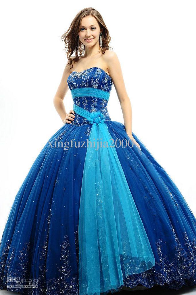 Wedding Dress In Blue