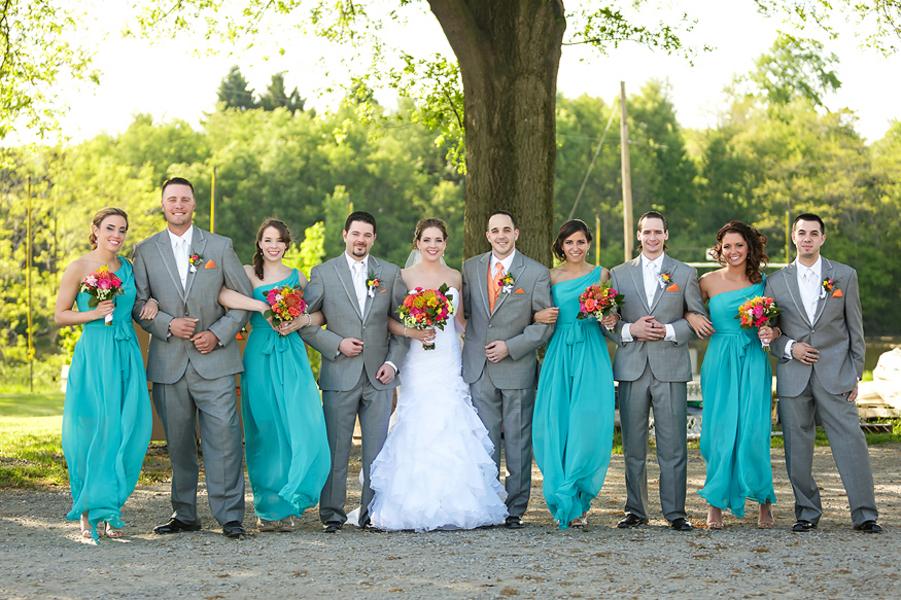 Turquoise And Grey Wedding Theme