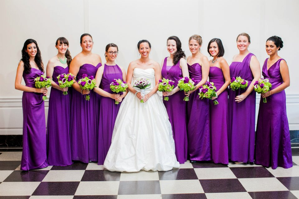 green and purple wedding dresses | Wedding
