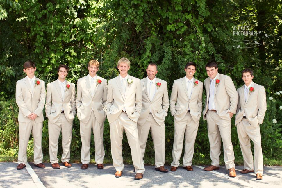 Light Tan Suit Wedding