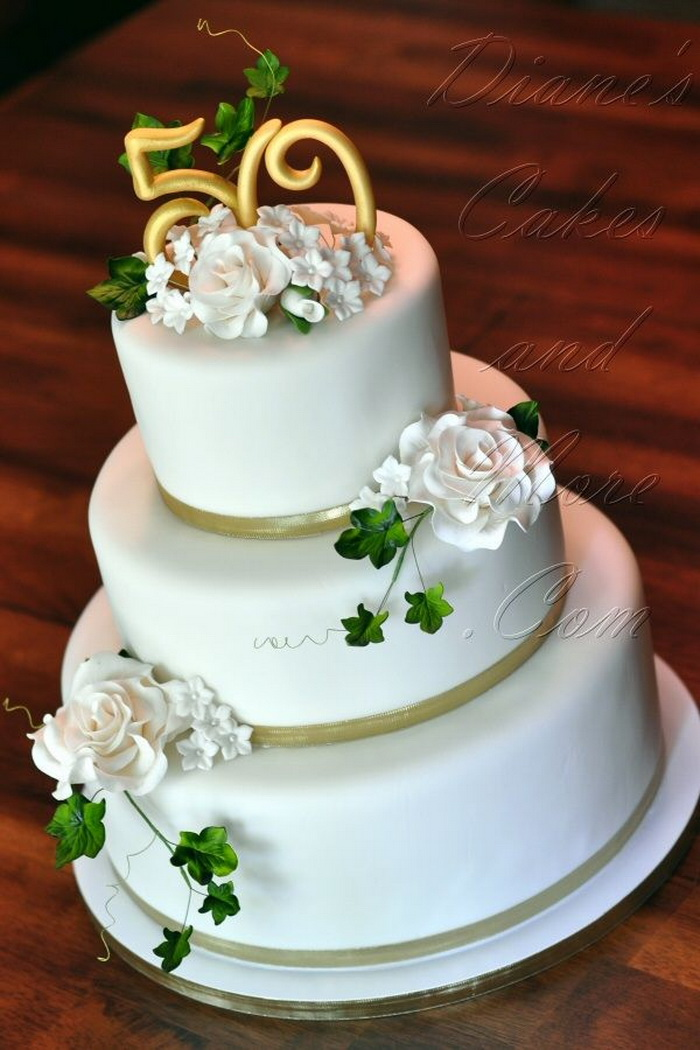 50 wedding anniversary cake ideas ideas for 50th wedding anniversary cakes 1126