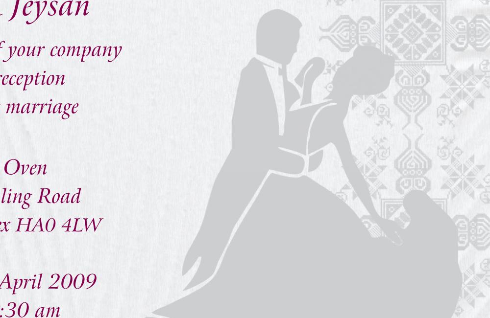 Indian Wedding Reception Invitation Templates – Emasscraft.org