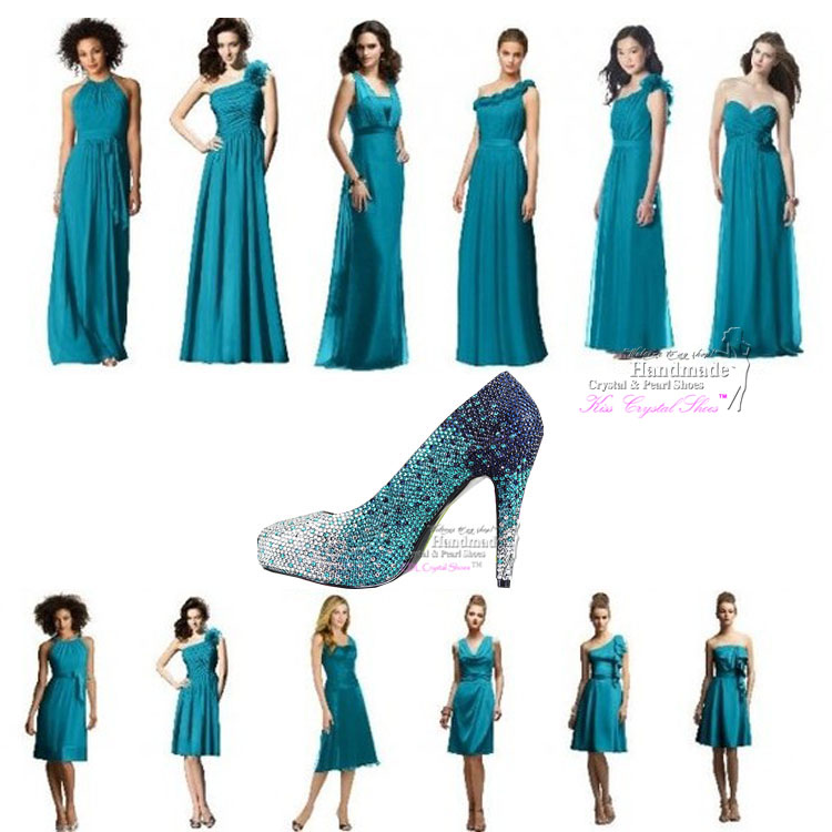 Teal Shoes Wedding
