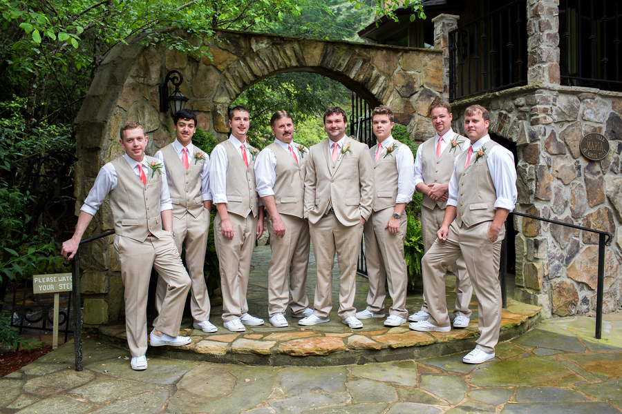 khaki wedding suit