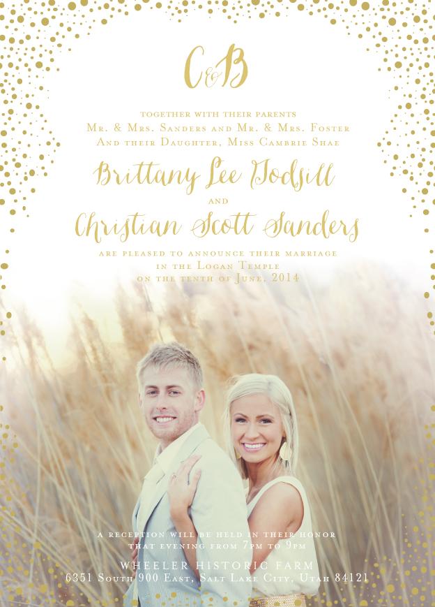 Wedding Open House Invitation Wording Lds