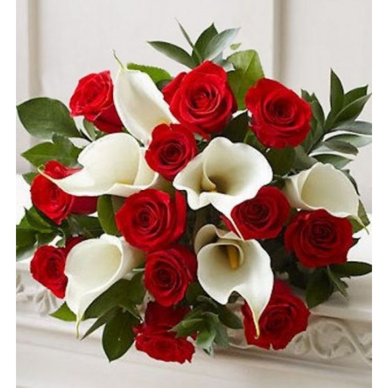 Memorable Moments Bouquet Medford Ny Florist Same Day Flower The French Blog Bridesmaid Bouquets White Calla Lily And Red Roses
