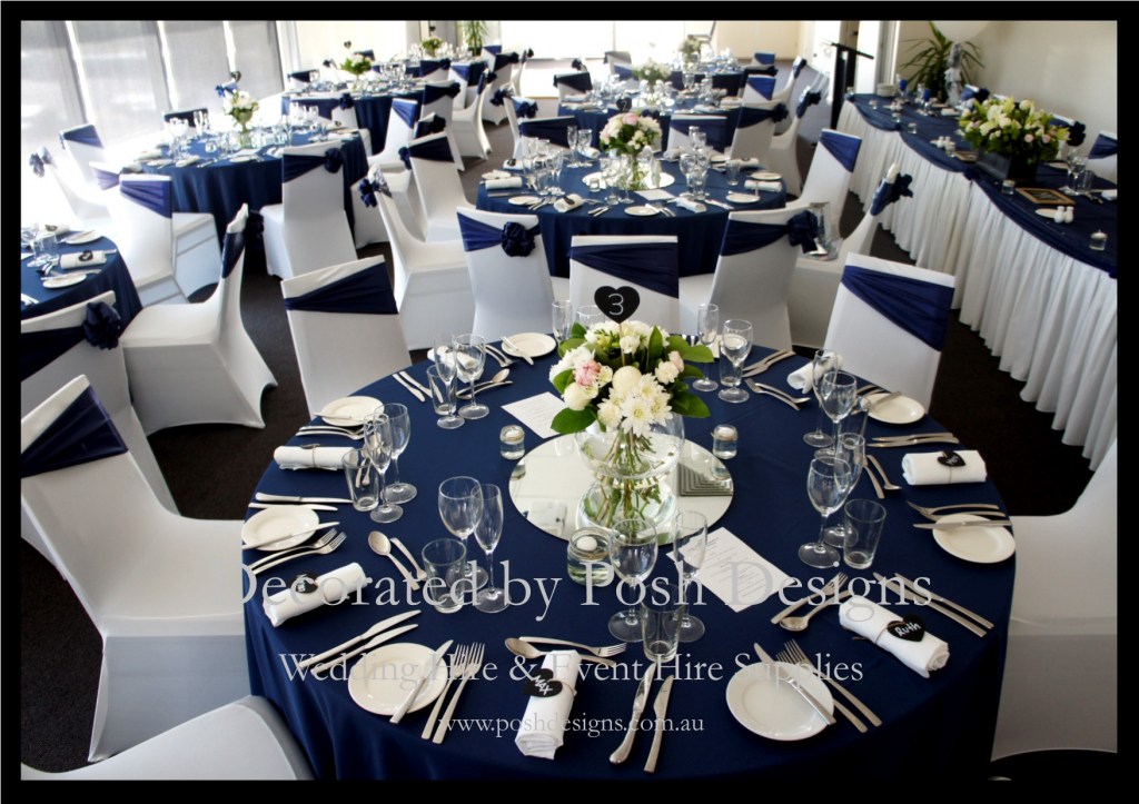 navy wedding decorations navy blue white and silver wedding theme 6133