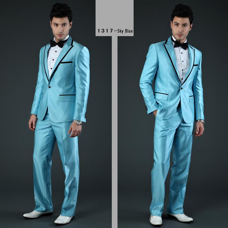 Teal Wedding Suit
