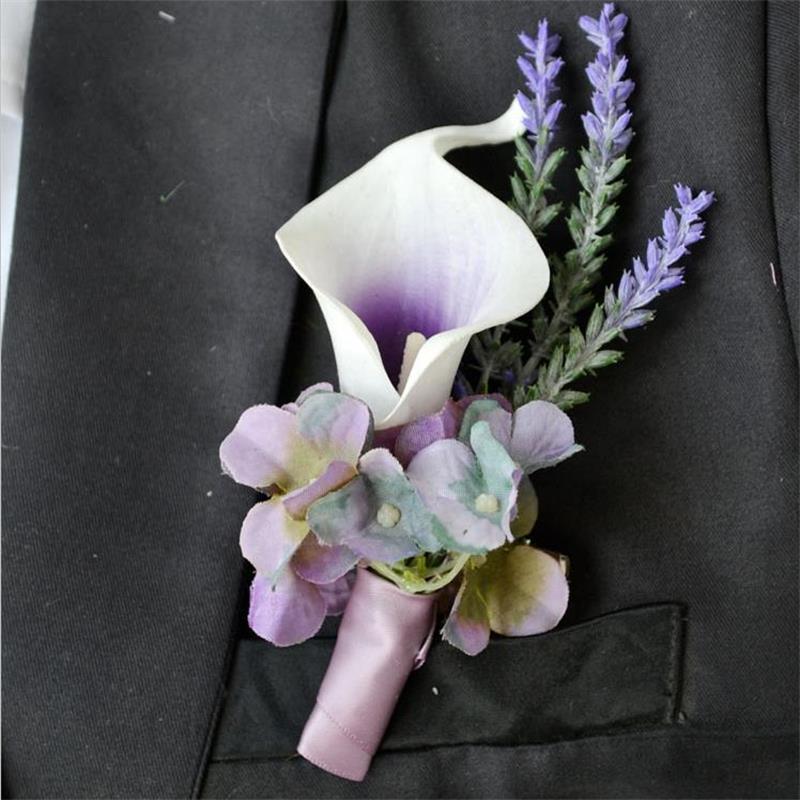Calla Lily Wedding Boutonniere