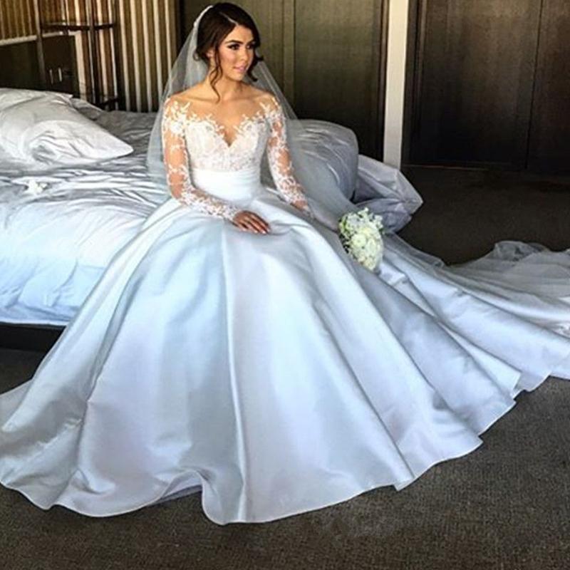 Online Get Silk Wedding Dresses