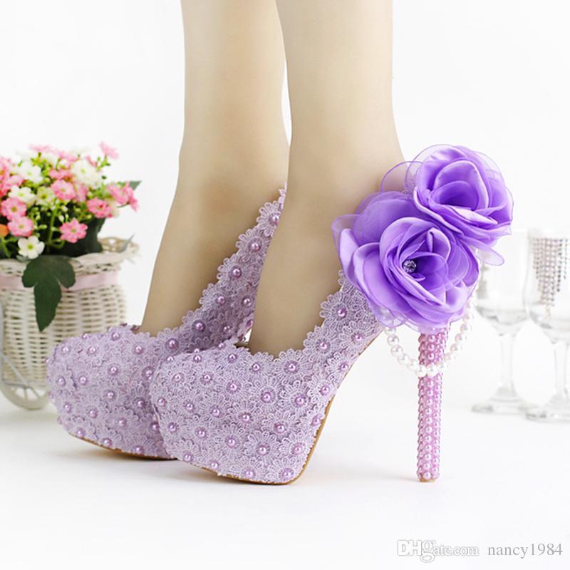 Purple Wedding High Heels
