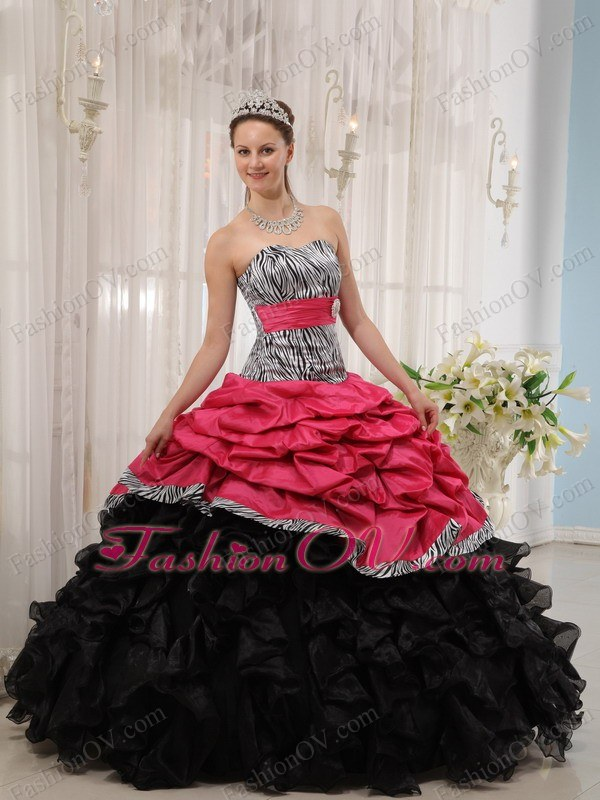 Red And Pink Wedding Dress