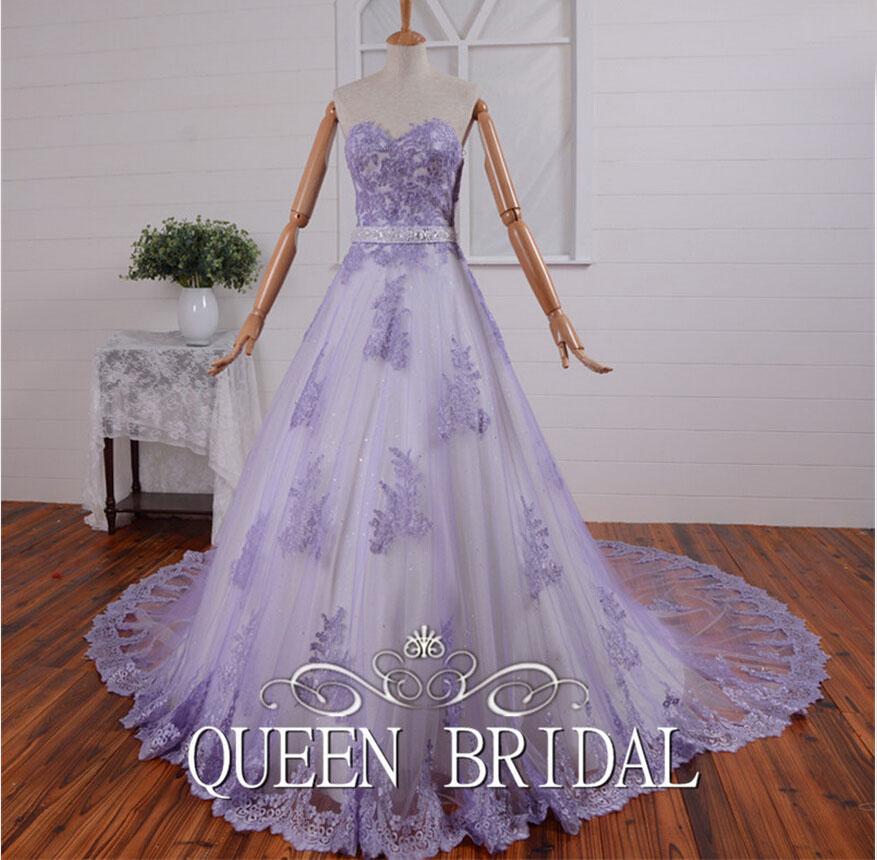 Lavender Wedding Gown