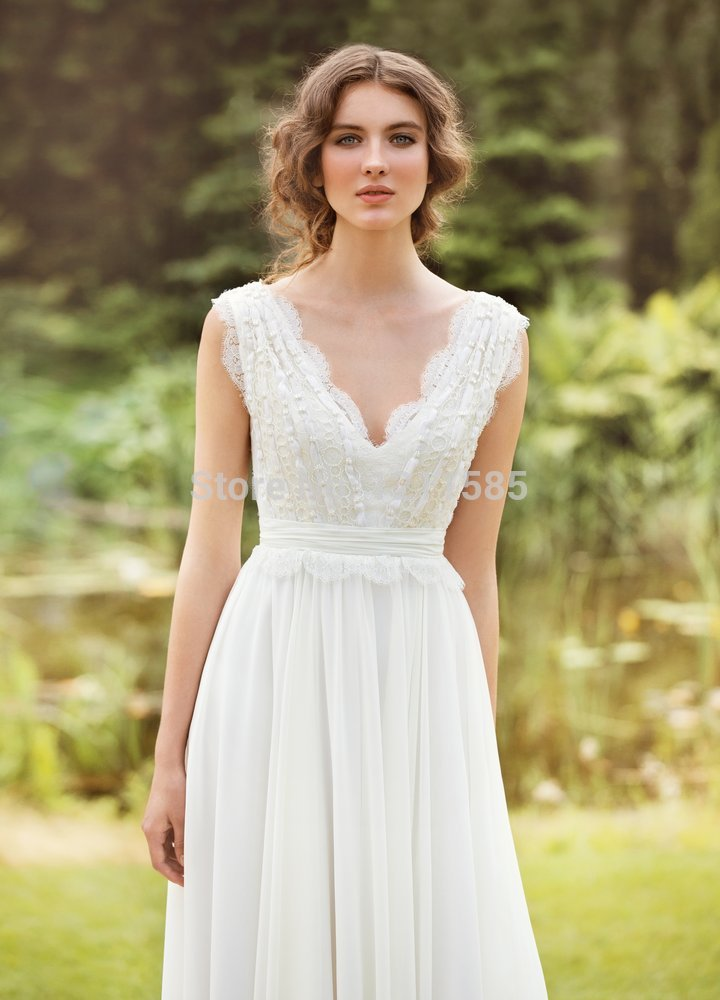 Casual country wedding dress for Fall casual wedding dresses