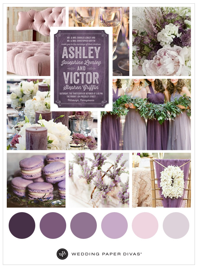 Lavender And Purple Wedding