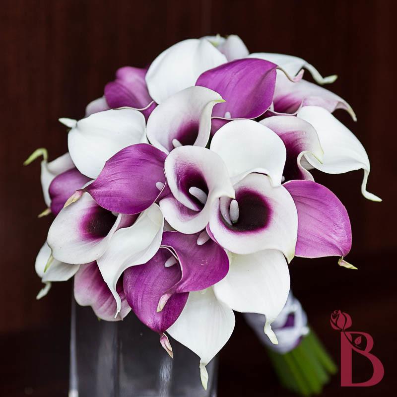 Wedding Flowers White And Purple