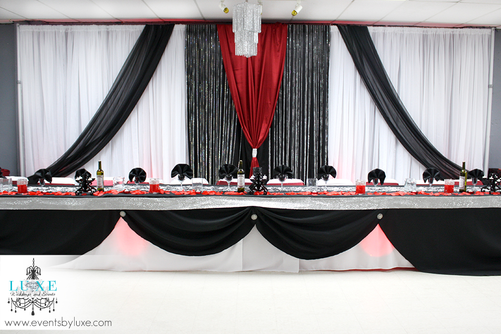 red and black wedding backdrops. Black Bedroom Furniture Sets. Home Design Ideas