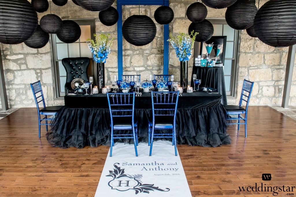 Royal Blue And Black Wedding