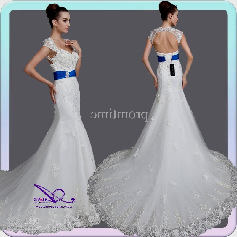 Wedding Dress White And Blue: Royal Blue And White Wedding Dress