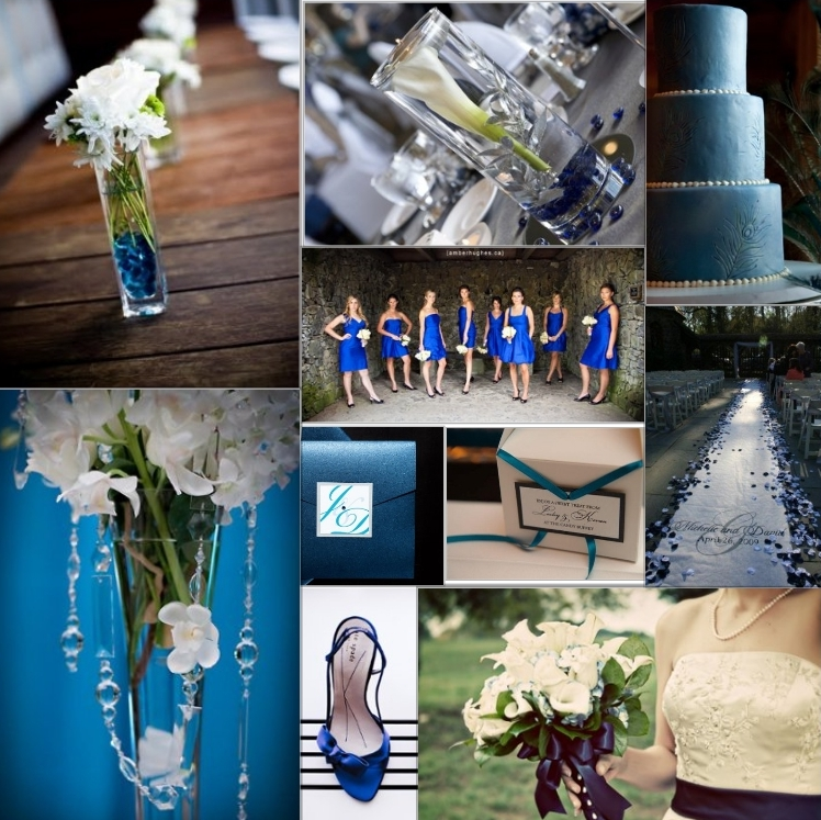 Royal Blue Archives Black And White Wedding