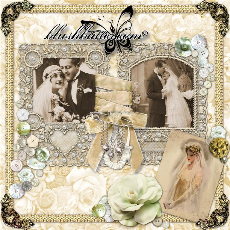 Wedding Scrapbook: Wedding Scrapbook Pages