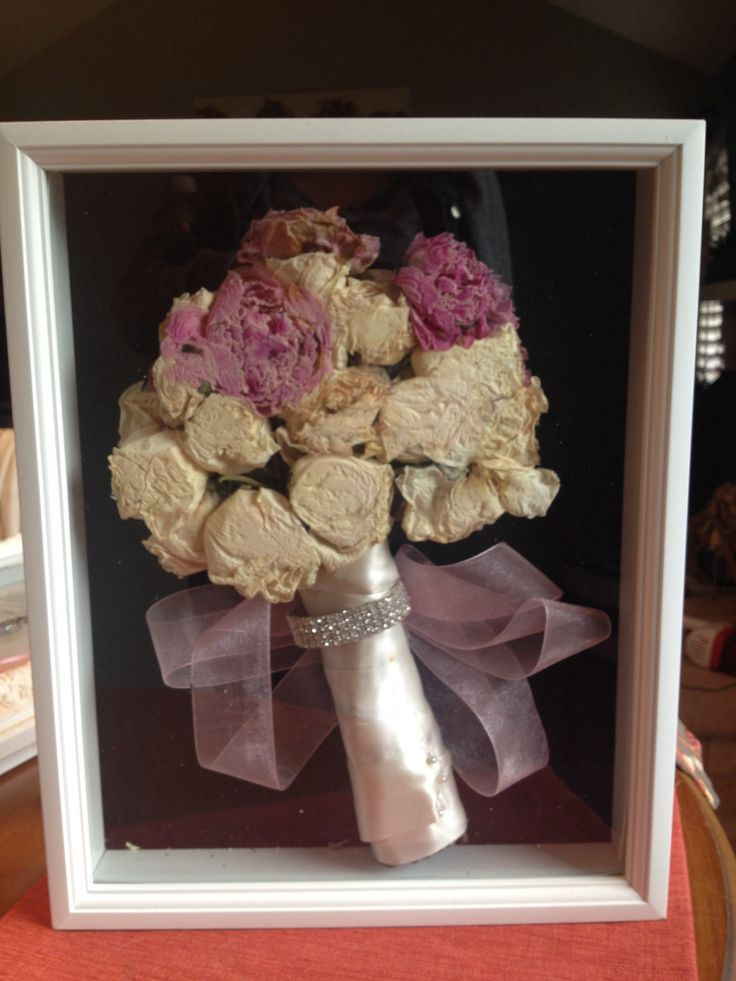 Shadow Box For Wedding Bouquet