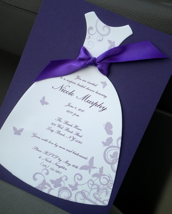 Wedding shower invitations cricut