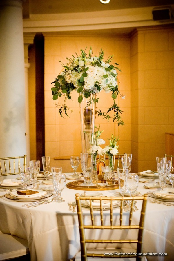 Tall vase arrangements wedding