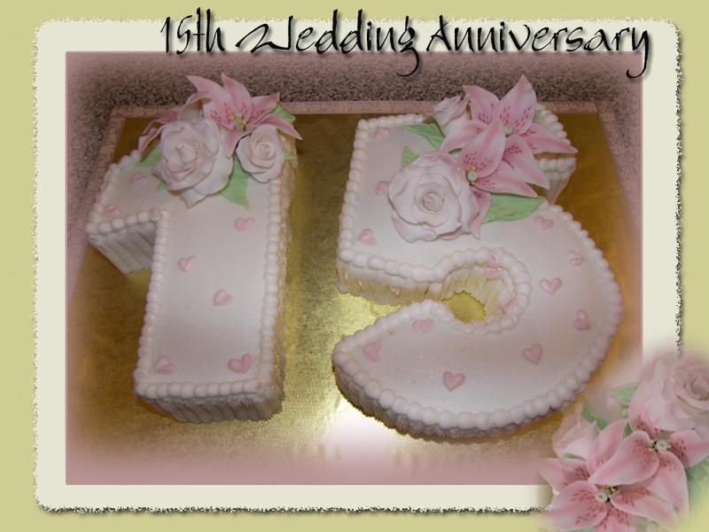 Age Love Cake 15th Wedding Anniversary For A Fun